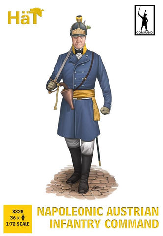 HaT 8328 Napoleonic Austrian Infantry Command. 1/72 Scale