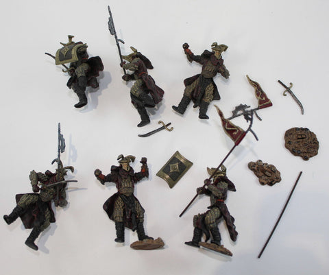 Easterling Warriors. 6 Easterlings Figures. LORD OF THE RINGS AOME (ARMIES OF MIDDLE EARTH). Used.
