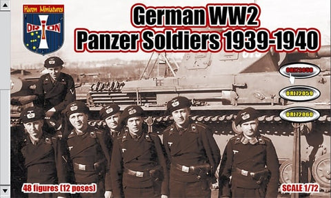 Orion 72058 German Panzer Soldiers. WWII. Plastic 1/72 Scale Figures.