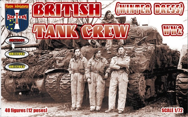 Orion 72061 - WW2 British Tank Crew (Winter Dress). 1/72 Scale Plastic Figures.