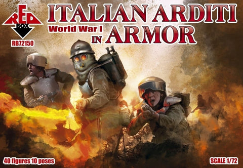 Redbox 72150. WWI Italian Arditi in Heavy Armour. 1/72 scale. FUTURE RELEASE. NYA