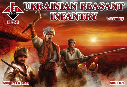 Redbox 72144. Ukrainian Peasant Infantry. 17th Century. 1/72 scale. FUTURE RELEASE. NYA