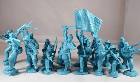 TSSD #2a UNION INFANTRY. AMERICAN CIVIL WAR. c60mm Unpainted Plastic