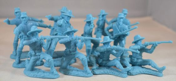 TSSD #15a DISMOUNTED CAVALRY. c60mm Unpainted Plastic