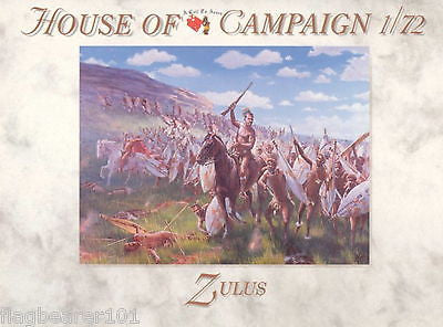 A CALL TO ARMS SET #56: ZULUS. ZULU WARRIORS 1/72 SCALE.