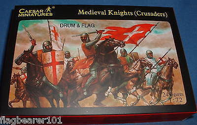 CAESAR set #17. MEDIEVAL KNIGHTS - CRUSADERS. 1/72 SCALE.