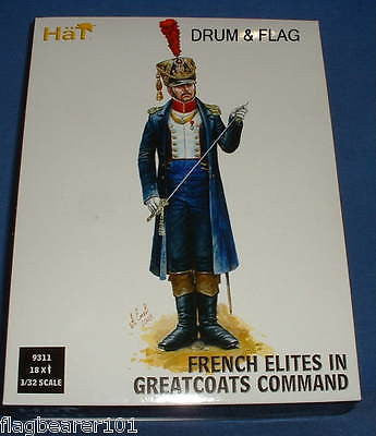 HAT 9311 - FRENCH ELITES IN GREATCOATS COMMAND. 1/32 SCALE