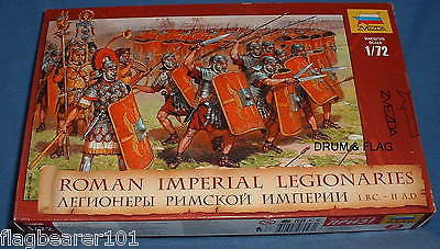 ZVEZDA 8043 ROMAN IMPERIAL LEGIONARIES. ROMANS INFANTRY. 1:72 SCALE. 52 FIGURES