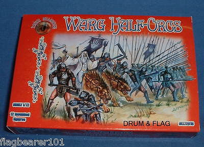 DARK ALLIANCE #72018. WARG HALF-ORCS  1/72 SCALE FIGS x 12