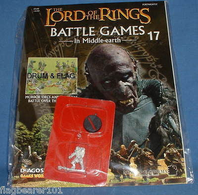 GRISHNAKH . LOTR BGIME ISSUE #17. SEALED BOOKLET & FIGURE.