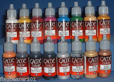VALLEJO GAME COLOR PAINT - ANCIENT & MEDIEVAL SET - 16 BOTTLES - ACRYLIC 17ml