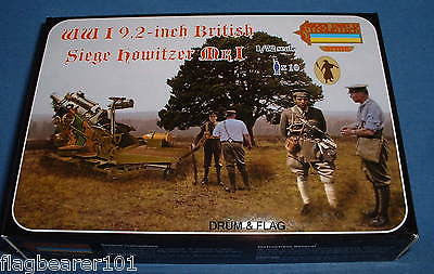 STRELETS A012 WWI 9.2 INCH BRITISH SIEGE HOWITZER & Crew. 1/72 SCALE