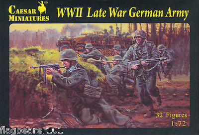 CAESAR 74 - WWII LATE WAR GERMAN ARMY. 1/72 SCALE WW2 INFANTRY.