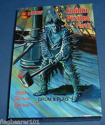 MARS 72090 ZOMBIE PIRATES #II 48 PIECE PIRATE SET. 1/72 SCALE UNPAINTED PLASTIC