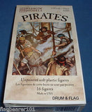 PIRATES - GLENCOE MODELS - SET #02204. 1/32 SCALE PLASTIC FIGURES. 54mm