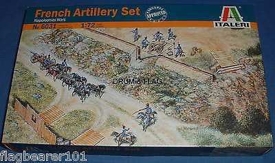 ITALERI 6031 - FRENCH ARTILLERY SET. 1:72 SCALE UNPAINTED PLASTIC FIGURES ETC