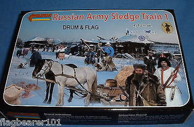 STRELETS 135 NAPOLEONIC RUSSIAN ARMY SLEDGE TRAIN 1 1/72 SCALE UNPAINTED PLASTIC