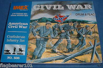 IMEX 506: ACW CONFEDERATE INFANTRY. 1:72 SCALE