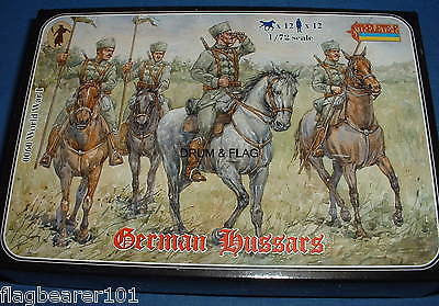 STRELETS SET #60 WW1 GERMAN HUSSARS. 1/72 SCALE UNPAINTED PLASTIC