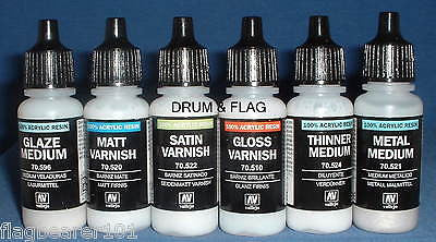 VALLEJO - VARNISH ETC - 6 BOTTLE SET - WATER BASED ACRYLIC 17ml