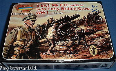 STRELETS SET A003 - BRITISH 8 INCH HOWITZER & EARLY WAR CREW 1/72 SCALE PLASTIC