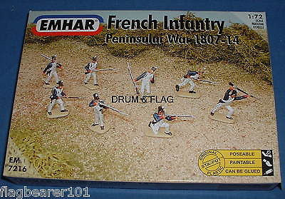EMHAR 7216 NAPOLEONIC FRENCH INFANTRY - PENINSULAR WAR. 1:72 Scale Plastic