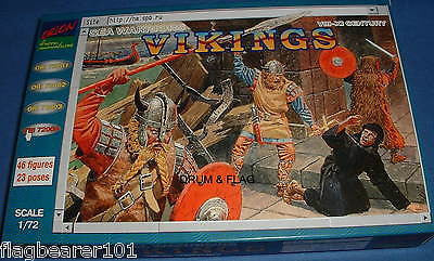 ORION 72004 - VIKINGS 8th-11th CENTURY. 1/72 SCALE UNPAINTED PLASTIC