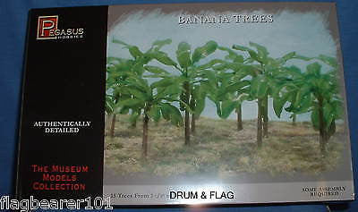 PEGASUS 6509 BANANA TREES 15 Trees from 1.5 to 1.5 inches tall. Coloured Plastic