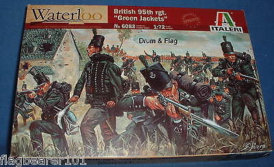 ITALERI 6083. BRITISH 95th RIFLES REGIMENT. GREEN JACKETS. 1:72 SCALE PLASTIC