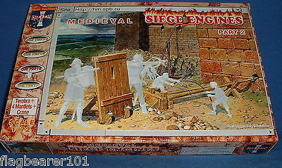 ORION 72016 MEDIEVAL SIEGE ENGINES PART 2. Terebra, Mantlets, Crane 1/72 SCALE