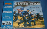 IMEX 505 UNION INFANTRY. AMERICAN CIVIL WAR. 1:72 SCALE. PLASTIC FIGURES