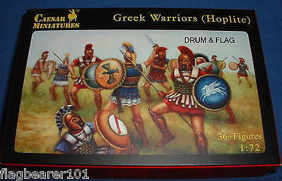 CAESAR 65 - GREEK WARRIORS (HOPLITES) - 1:72 SCALE PLASTIC FIGURES X 36
