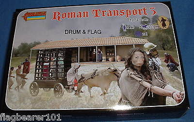 STRELETS 131 ROMAN TRANSPORT (3) 1/72 SCALE UNPAINTED PLASTIC
