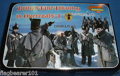 STRELETS M 94 NAPOLEONIC BRITISH LINE INFANTRY IN OVERCOATS #1 1/72 SCALE