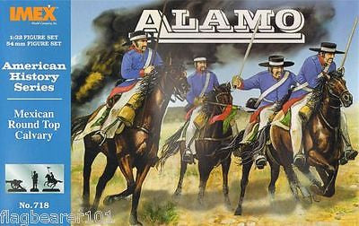 IMEX 718 MEXICAN ROUND TOP / HAT CAVALRY 1:32 SCALE THE ALAMO 54mm MEXICANS