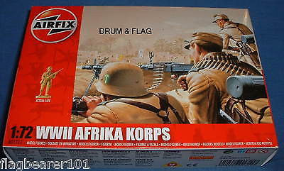 AIRFIX 01711. WWII GERMAN AFRIKA KORPS. 1/72 SCALE UNPAINTED PLASTIC FIGURES dns