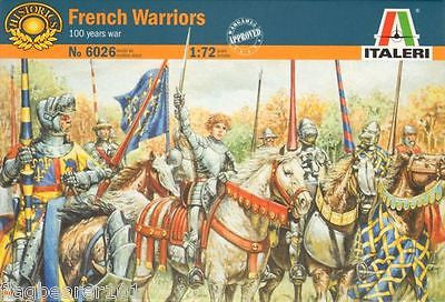 ITALERI 6026 FRENCH WARRIORS - HUNDRED YEARS WAR. HYW 1/72 SCALE.  UNPAINTED