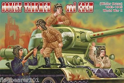 ORION 72042 WW2 SOVIET RUSSIAN TANKMEN WINTER DRESS 1/72 SCALE UNPAINTED PLASTIC