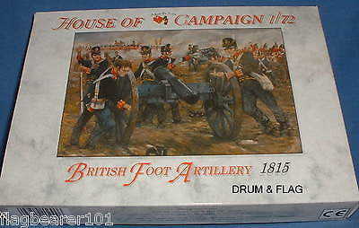 A CALL TO ARMS 64. NAPOLEONIC BRITISH FOOT ARTILLERY 1/72 SCALE 4 CANNONS & CREW