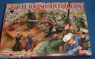 REDBOX 72066 TURKISH ARTILLERY 16th Century. 1/72 SCALE UNPAINTED PLASTIC