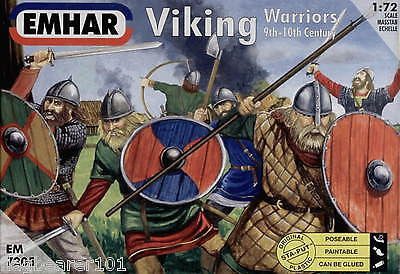 EMHAR 7205 VIKING WARRIORS. 9TH-10TH CENTURY 1:72 SCALE - VIKINGS. DARK AGES