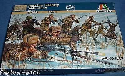 ITALERI 6069 WW2 RUSSIAN INFANTRY (WINTER) 1:72 SCALE. WWII RUSSIANS / SOVIETS