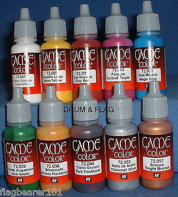 VALLEJO GAME COLOR PAINT - ANCIENT & MEDIEVAL ERA - 10 BOTTLE SET - WATER BASED