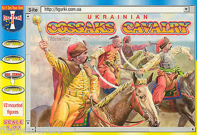 ORION 72014 UKRAINIAN COSSACK CAVALRY. 1/72 SCALE. 17th Century