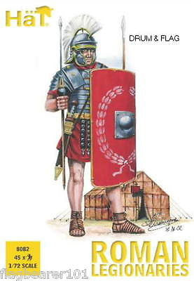 HAT 8082 ROMAN LEGIONARIES. 1/72 SCALE ROMANS - 45 UNPAINTED PLASTIC FIGURES
