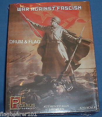 PEGASUS 7267 WW2 RUSSIANS WAR AGAINST FASCISM 1/72 SCALE UNPAINTED PLASTIC FIGS