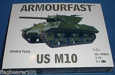 ARMOURFAST 99004. WW2 US M10 TANK DESTROYER. 1/72 SCALE