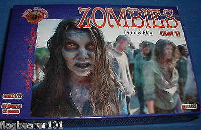 DARK ALLIANCE #72023. ZOMBIES (SET 1). 1/72 SCALE FIGURES