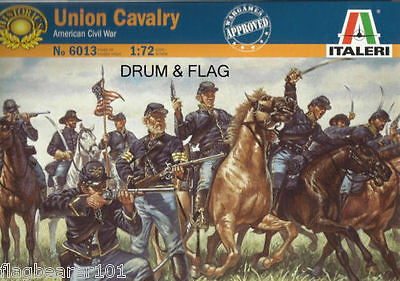 ITALERI 6013 UNION CAVALRY. AMERICAN CIVIL WAR. ACW. 1/72 SCALE. 17 FIGURES. US