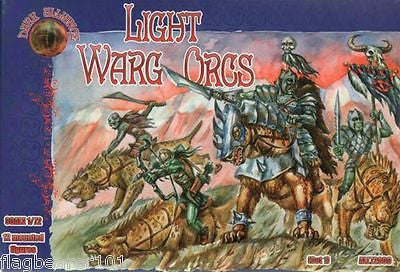 DARK ALLIANCE 72009 - LIGHT WARG ORCS. 1/72 SCALE